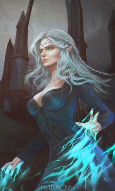 Lara Dorren by lightart_public - witcher Fantasy Girl, Dark Fantasy, Chica Fantasy, Fantasy Warrior, Fantasy Women, Medieval Fantasy, Elves Fantasy, Female Character Inspiration, Fantasy Character Design