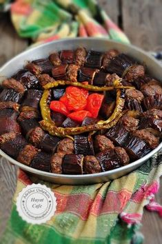 Baked Eggplant Kebab - Hayat Cafe Easy Recipes - eggplant kebab in the oven - Turkish Kebab, Turkish Recipes, Ethnic Recipes, Baked Eggplant, Iftar, Meat Recipes, Easy Meals, Food And Drink, Favorite Recipes