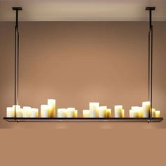American country large living room dining room rounded rectangular LED resin candle chandelier lamp shade 120CM/140CM+EM