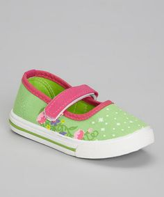Light Green Twinkling Star Mary Jane by Ositos Shoes #zulily #zulilyfinds