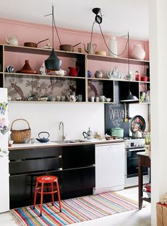 Pantone Rose Quartz Kitchen