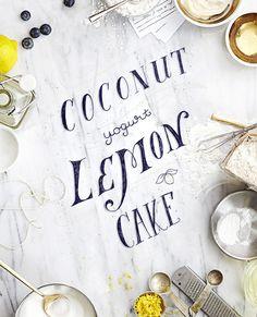 Coconut Yogurt Lemon Cake by V.K.Rees and Rachel Rees, Illustration by Victoria Bellavia