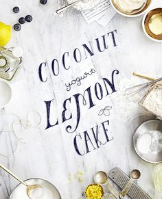 Coconut Yogurt Lemon Cake by V.K.Rees and Rachel Rees, Illustration by Victoria Bellavia