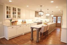 Love, love, LOVE this kitchen. Chip & Joanna Gaines (Fixer Upper) took a ranch style house and gave it a European French vibe. You have to see it to believe it!