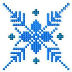 Snowflake cross stitch free embroidery - Cross stitch machine embroidery - Machine embroidery community
