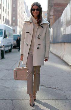 nyfw street style- head to toe neutrals Love Fashion, Fashion Outfits, Classic Fashion, Nyfw Street Style, Sartorialist, Silhouette, Autumn Winter Fashion, Winter Style, Fall Fashion