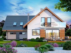 Projekt domu Alion 2M 136,79 m2 - koszt budowy - EXTRADOM My Home Design, House Design, Home Fashion, Architecture Design, Cabin, Mansions, House Styles, Home Decor, Architecture Layout