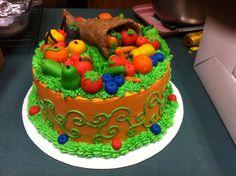 Thanksgiving marzipan cake:)