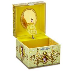 Disney Belle Musical Jewelry Box | Disney StoreBelle Musical Jewelry Box - Send the Disney Princess into a spin with this decorative musical jewelry box. Turn the key to hear the title song from <i>Beauty and the Beast</i> as Belle pirouettes in front of the mirror which will reflect your sparkling contents.