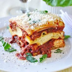 Chicken Chorizo Lasagna - one of the most delicious combinations I have ever tried in a lasagne.