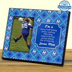 Show mom how much you appreciate her this Mother's Day with a soccer mom frame from ChalkTalkSPORTS.com!