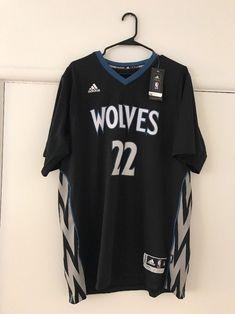 100% Authentic Andrew Wiggins Adidas Swingman Wolves Sleeved Jersey Size XL   3de9497d0