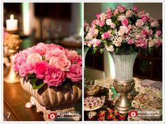 Arranjos Mix de Flores..rosas e Lisianthus em tons de rosa- Lilac Flores e Decoração