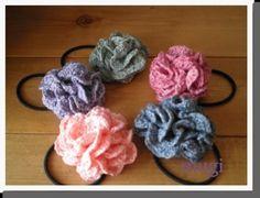 お花みたいな☆フリルたっぷりのヘアゴム♪の作り方|編み物|編み物・手芸・ソーイング|ハンドメイド | アトリエ