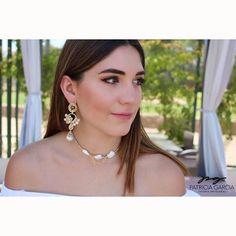 ☀️PG☀️ #pgjoyeriaartesanal #chapadeoro #handmadejewelry #diseñomexicano #earrings #aretes #chokers #hechoamano #mexicocreativo #hechoenmexico #perlas #mexico #lmm #mx