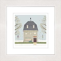 Buy Sally Swannell - Autumn Barn Framed Print, 37 x 37cm Online at johnlewis.com