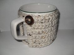 crocheted+coffee+mug+cozy+or+cup+cozy+in+by+TheLeftHandedHooker,+$10.00