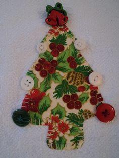 Retalho e Cor - Pano de prato com motivos de Natal