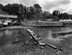 Isleworth Boatyard #mkhardy #London #Isleworth #FilmIsNotDead #boat #ilford #film #largeformat #Schneider