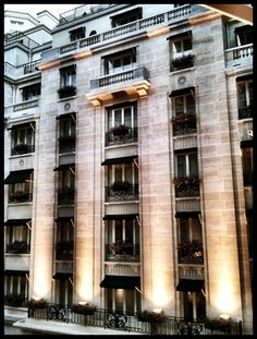 The George V in Paris - classical with deco inspiration. Clean and timeliness, the hotel's design references the past without trying to replicate it.
