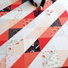 Trick of the Light quilt with Catnap