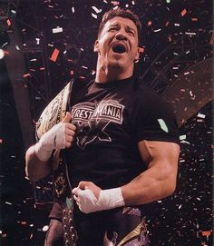 Eddie Guerrero was taken way to soon. Not a day goes by that i dont watch wrestling that i miss his work. Truly one of the best.