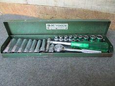 S-K WAYNE/ S-K TOOLS Tools 1/4″ Drive SAE Socket Set 20 Piece with Metal Box Tools Tools, Socket Set, Metal Box, Automotive Tools, Motors, Motorbikes