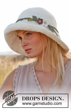 I love summer hats. They are so glamorous and flattering. They are also a great way to keep the sun out of your face. But, mainly they are just gorgeous. To see some of my sun hat designs check out my Ravelry Dune Hat by Drops Design  Nep Hat …