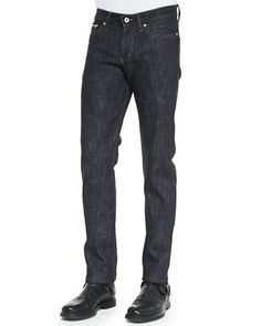 Slub Selvedge Jeans, Indigo by Naked and Famous Denim at Neiman Marcus.