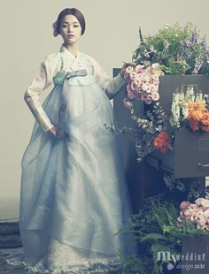 Hanbok, korean traditional clothes / My wedding / 花中花 / 바이단