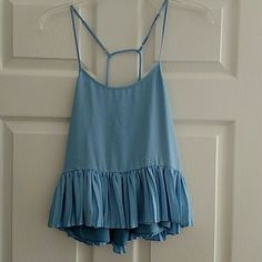 NWT Elizabeth & James tank Beautiful baby blue tank with adjustable straps!! Never worn. Photos don't do the color justice. Elizabeth and James Tops Tank Tops