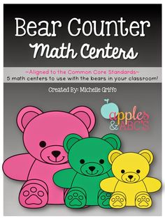 Kids LOVE using manipulatives during math time and I LOVE teaching with them. I had a ton of these math bear counters in my room, but didn...