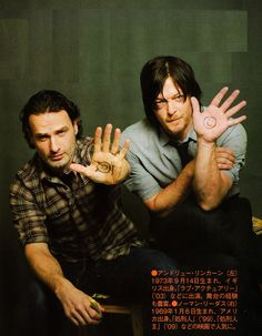 The Walking Dead: Andrew Lincoln & Norman Reedus Best Tv Shows, Favorite Tv Shows, Daryl And Rick, Daryl Dies, Fear The Walking Dead, Stuff And Thangs, Andrew Lincoln, Rick Grimes, Dead Man