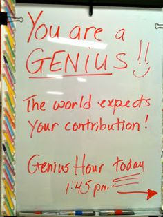 Teaching is Elementary: Genius Hour Reviewed  I think this is definitely a must in a classroom in this age of CCSS. We need things to keep kids excited about learning and to teach them how to be responsible for their own learning.