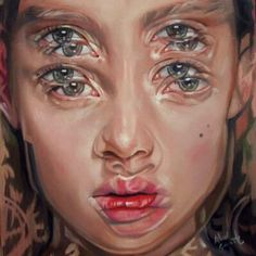 Gorgeously Surreal Portraits Painted to Resemble Double Vision - Malerei - Alex Garant {contemporary surrealism art beautiful female head multi-exposure blurred vision woman - Alex Garant, Distortion Art, A Level Art, Ap Art, Surreal Art, Surreal Portraits, Modern Portraits, Psychedelic Art, Art Sketchbook