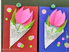 Diy Crafts Paper Flowers, Paper Flowers For Kids, Butterfly Crafts, Flower Crafts, Paper Crafts, Diy Paper, Mothers Day Crafts For Kids, Spring Crafts For Kids, Holiday Crafts For Kids