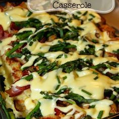 Casseroles are a favorite easy meal for my family, especially during the busy holidays. This Overnight Eggs Benedict Casserole is perfect for brunch because you prepare it all the night before and just bake it in the morning. Eggs Benedict Casserole, Eggs Benedict Recipe, Egg Benedict, Mexican Breakfast Recipes, Brunch Recipes, Asparagus Bacon, Prosciutto, Breakfast Casserole, Breakfast Pizza