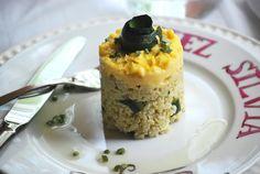 CHEZ SILVIA: Mijo con puerro y calabacin y huevo cuajado