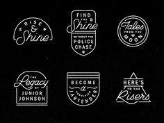 Collaborated with buddy @Keith Davis Young on a brand refreshment for alcoholic refreshment brand Midnight Moon. Here's some lockups they'll be using on all appropriate social sites.