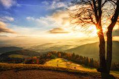 sunrise in austria photo