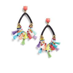 Women's Baublebar Merengue Drop Earrings ($38) ❤ liked on Polyvore featuring jewelry, earrings, navy, earring jewelry, beaded tassel earrings, drop earrings, navy earrings and multi colored earrings