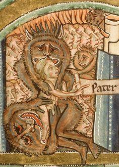 Paris, Bibliothèque Sainte-Geneviève, 0010, detail of f. 128v. Manerius Bible (c.1185-1195).