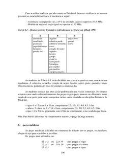 106 Caso se utilize madeiras que não conste na Tabela 6.1 devemos verificar se as mesmas possuem as características física...