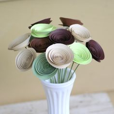 15 Mini Flowers in Rustic Browns and Greens, Alternative Eco-Friendly Centerpiece, Woodland Rustic Decor.