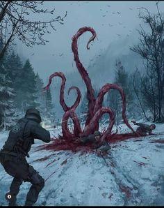 Monster Concept Art, Fantasy Monster, Monster Art, Arte Horror, Horror Art, Dark Fantasy Art, Fantasy Artwork, Lovecraftian Horror, Dark Creatures