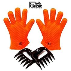 1 Silicone BBQ / Cooking Gloves PLUS No. 1 meat shredder ★ Get these 2 premium products for the price of one ★Heat resistant Cooking Gloves perfect for grilling, baking and handling hot stuff in the kitchen ★Protect yourself with this water proof Mole Repellent, Bbq Set, Smoke Bbq, Heat Resistant Gloves, Bear Claws, Bbq Tools, Kitchen Tools And Gadgets, 1 Piece, Meat