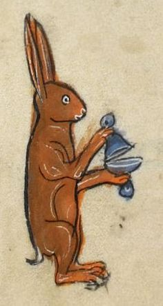 The Duracell Bunny [BL, MS 62925, 13th c,]