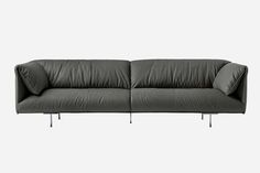 The John-John sofa, by Jean-Marie Massaud for Poltrona Frau, pays tribute to John F. Kennedy Jr., with solid beechwood and full-grain leather.