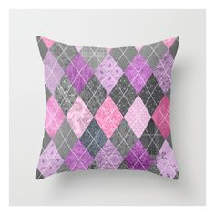 Magic Argyle Quilt Throw Pillow ($20) ❤ liked on Polyvore featuring home, home decor, throw pillows and patterned throw pillows