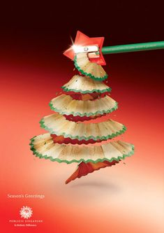 When Christmas time comes, there are just ads everywhere. Christmas season is a perfect time for your marketing or product promotion, and creative advertising design can easily stand out and catch people's eyes at the first time. Unusual Christmas Trees, Pencil Christmas Tree, Creative Christmas Trees, Diy Christmas Tree, Xmas Tree, Christmas Holidays, Christmas Decorations, Christmas Ornaments, Holiday Decor